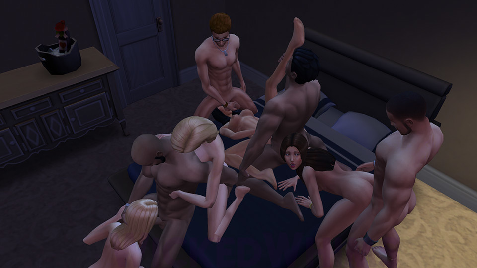 Wickedwhims Bedroom Orgy Sims Sex