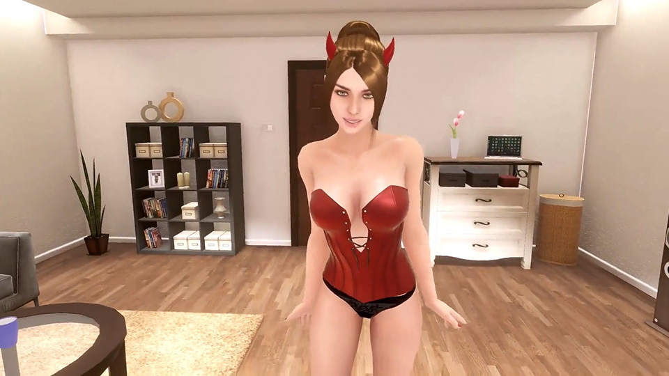Love Vibe Aria Screenshot Devil Outfit