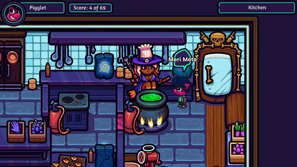 Pigglet In Mrs Big Bad Werewolf Screenshot Kitchen